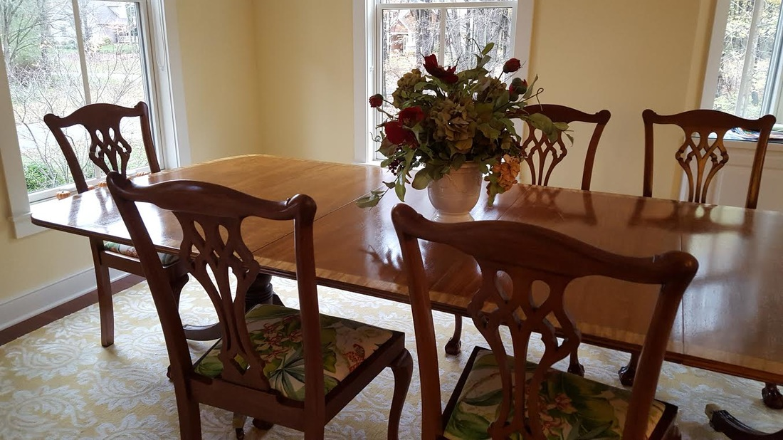 WOOD REFINISHING And Upholstery Of Dining Chairs
